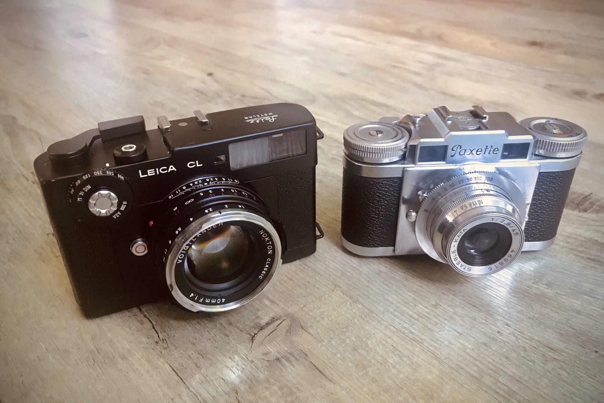 Braun Paxette vs. Leica CL