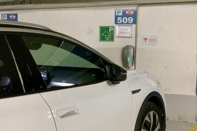 ID.4 am Tesla Destination Charger
